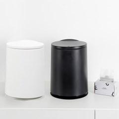 원터치 원형 휴지통 10L + 전용 비닐봉투10L 50매