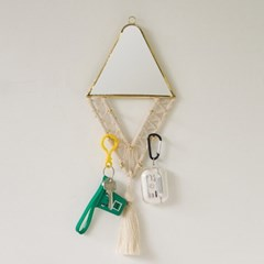 마크라메 벽거울 - 다이아몬드