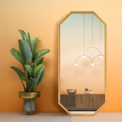 라벨르 골드 팔각 전신 거울