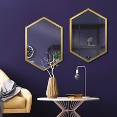 아뜰리에 골드 육각 거울