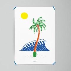 팜트리 야자수 M 유니크 인테리어 디자인 포스터 휴양지 여름