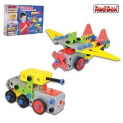 [레드박스]과학놀이 비행기 탱크 판블럭 조립세트 (612R24368)