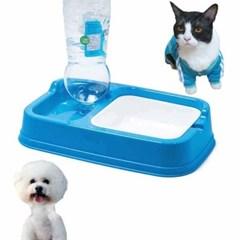 워터푸드 강아지 고양이 급식 급수기(블루)