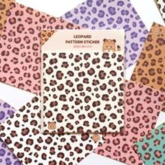 [표범과복숭아] 레오파드 패턴스티커