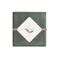 꽃잎 마름모 감사라벨 (10개)