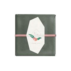 꽃잎 칠각 감사라벨 (10개)
