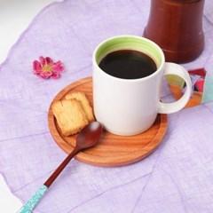 숨쉬는나무 통원목 원형 컵받침