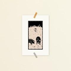 [소요] 제주흑돼지 액자형엽서