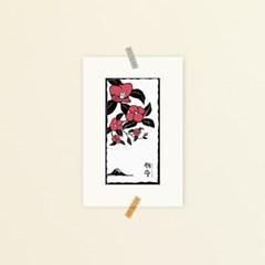 [소요] 동백꽃 액자형엽서