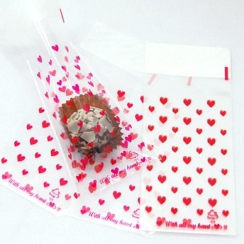 [코지아트]초콜릿 포장비닐 (하트) (no.1131)
