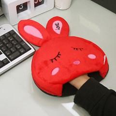 USB 온열 마우스패드 - 러브토끼