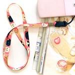 Choo Choo soft neck strap- pink