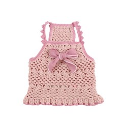 Crochet Crop dress - Pink