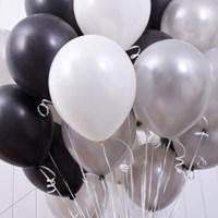 천장장식 펄풍선(헬륨효과)세트-흑진주