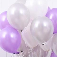 천장장식 펄풍선(헬륨효과)세트-은은한라벤더