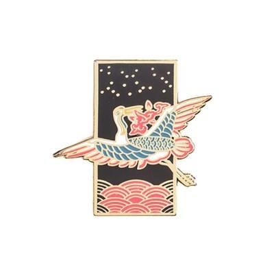 [전통문양] 매화를 문 두루미 뱃지