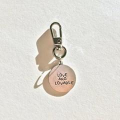 [프롬구원] Silver Circle Love and lovable 키링
