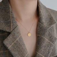 18k gf elizabeth coin necklace (14K 골드필드)