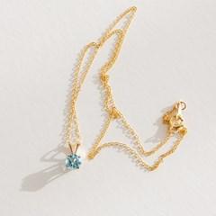 14k gf topaz necklace (14K 골드필드)