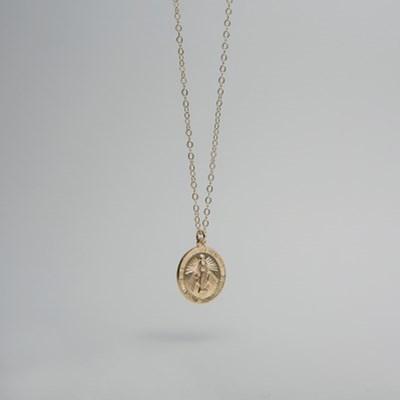 14k gf maria circle necklace (14K 골드필드)