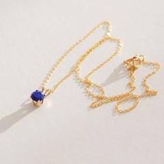 14k gf lapis necklace (14K 골드필드)