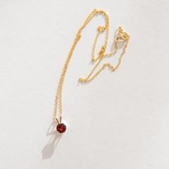 14k gf garnet necklace (14K 골드필드)