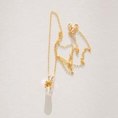 14k gf citrine necklace (14K 골드필드)
