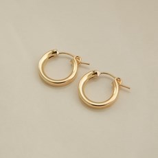 14k gf bold onetouch ring earrings (두께3mm) (14K 골드필드)