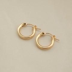 14k gf bold onetouch ring earrings (두께3mm) (14K 골드필드)