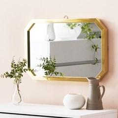 채우리 프레시티지 인테리어 화장대 직팔각 거울 (소)