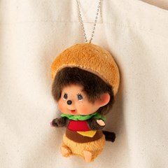 M's BURGER Monchhichi Big Head SS Keychain