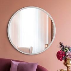리비아 화이트 원형 거울
