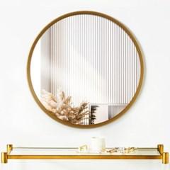 리비아 골드 원형 거울
