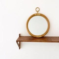 yo(요) 라탄 거울 벽걸이 원형 화장대 미러