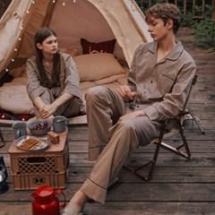 알콩단잠 커플파자마 마리네트 순면 실내복 긴팔 잠옷세트 홈웨어 라