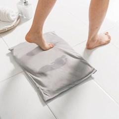 통으로 빨아쓰는 주방 규조토 욕실 발매트 2개_(421615)