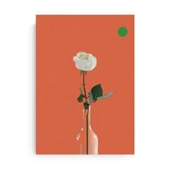 Fromsky A5 미니 포스터 (White Rose)