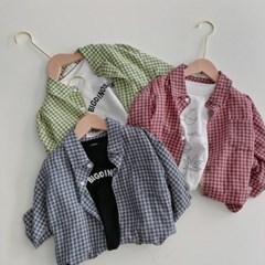 돌핀웨일 컬러스잔체크셔츠(70~130cm)
