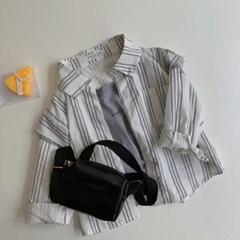 돌핀웨일 컷팅레이어드소매셔츠(70~140cm)