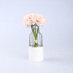카네이션 조화 꽃다발 장식 (4color)_(1610217)