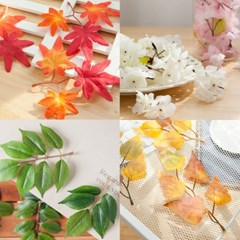 나무 장식 벚꽃 단풍 잎 봉지 인테리어 DIY 6종모음_(1848597)