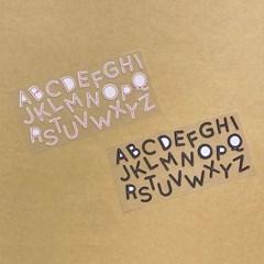 stitch alphabet sticker 스티치 알파벳 스티커