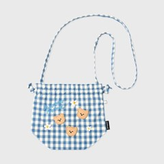 Dot flower bear-blue(스트링 크로스백)_(1636330)