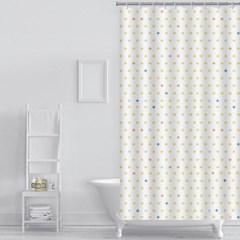 플러스 패턴 샤워커튼(180x180cm) / 화장실커튼