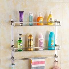 홈드림 2단 스텐 수건걸이 욕실선반/화장실선반