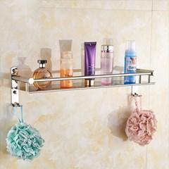 퓨어홈 스텐 욕실선반/욕실 정리대 벽선반 일자선반
