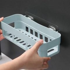 러빙홈 접착식 욕실선반(블루)/ 무타공 화장실선반