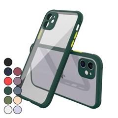 아이폰11 컬러풀 클리어 심플 커버 하드 케이스 P518_(3072451)