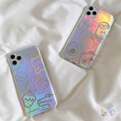 아이폰11 큐트 애니멀 홀로그램 젤리 케이스 P544_(3072450)