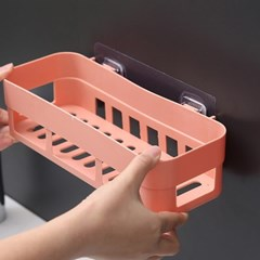 러빙홈 접착식 욕실선반(핑크)/ 무타공 화장실선반